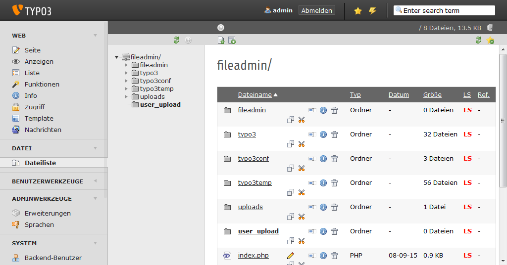 TYPO3 File Manager