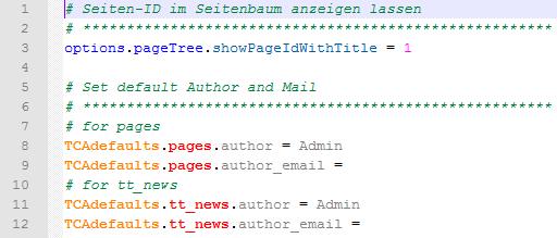 Notepad++ Typoscript Syntax Highlight