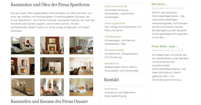 Schornsteinfeger Produkt-Galerie