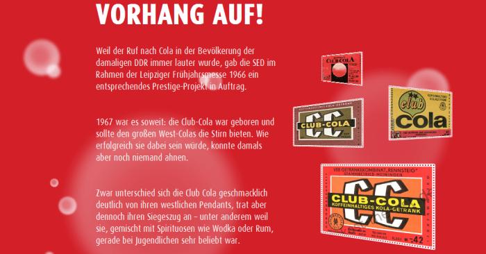 Club Cola Historie