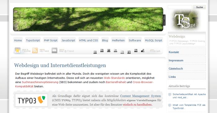 TYPO3 Blog Infoseite